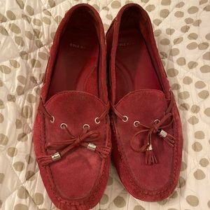 Red Cole Haan Driving Shoe